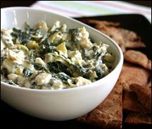 Healthy Spinach Artichoke Dip    http://www.hungry-girl.com/newsletters/raw/1053