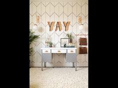 DIY Wallpaper With A Sharpie! | Vintage Revivals