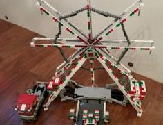 Lego-ferris-wheel-fairground-ride-set-with-truck-and-lorry-with-steering-job-lot