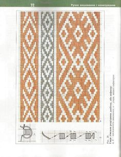 Folk Embroidery, Embroidery Patterns, Bargello Needlepoint, Viking Art, Crochet Chart, Brick Stitch, Rainbow Colors, Cross Stitch, Sewing