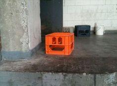 milk crate face