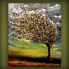 art original abstract painting palette knife painting by mattsart