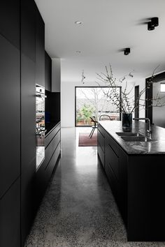 Doncaster House by Red Door Project - Victorian Residential Design - The Local Project Interior Desing, Interior Architecture, Interior And Exterior, Residential Architecture, Minimalist Home, Minimalist Design, Melbourne House, Vogue Living, Black Kitchens