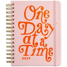 ban.do One Day at a Time Agenda ($28) ❤ liked on Polyvore featuring home, home decor, stationery, fillers, books, text, words and ballet pink