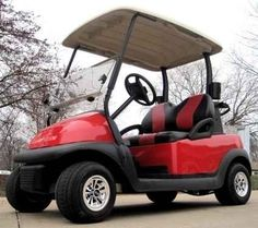 Used 2015 Gsi Red Golf Cart Club Car Precedent with Custom Black ATVs For Sale in Illinois. Looking to travel the golf course in style? Search no more! This luxurious Red Golf Cart Club Car Precedent with Custom Black and Red Seats offers you a stylish comfortable ride around the course. This high quality electric golf cart has so many great features, it's too hard to pass up. Take a look below and you'll notice that you won't find a better deal than this. This cart has been inspected by an…