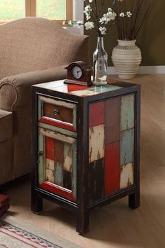 Rustic Chairside Chest