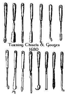 Source: Mechanick Exercises, or Doctrine of Handy-Works, Joseph Moxon, London Green Woodworking, Woodworking Tips, Wood Supply, Bowl Turning, Lathe Projects, Wood Lathe, Hair Sticks, Tea Lights, Joseph