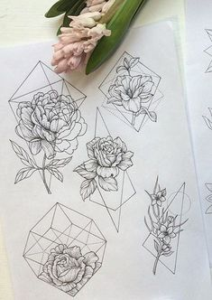 pinterest : jvnxie ☹ ☻ |¤| MadebyPernille: I NEED to learn how to draw like this! Lovely geometric flower doodles