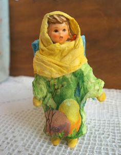 Cotton Batting Angel Easter  Spun Cotton Vintage Style  Girl