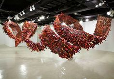 Yun-Woo-Choi creates art with magazines and newspapers, folding them, and .......  More at the link.