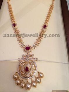 1.2 Lakhs CZ Necklace | Jewellery Designs