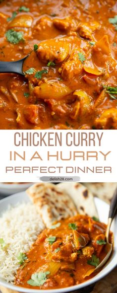 CHICKEN CURRY IN A HURRY
