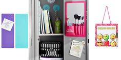 Upgrade your locker this year with lights, curtains, and super-fun organizers!