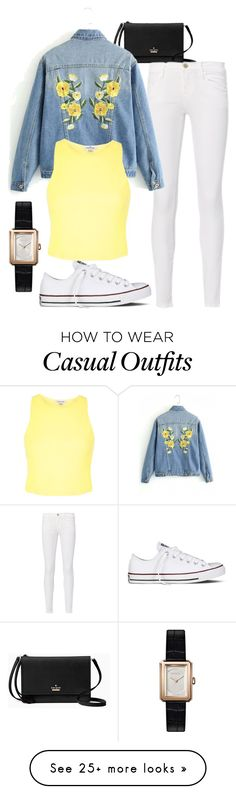 """""""Casual"""" by she-creates-it on Polyvore featuring Kate Spade, Frame, Converse, River Island, Chanel, outfit, polyvorefashion and SheCreatesIt"""