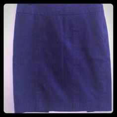 Ann Taylor Loft denim skirt Beautiful Ann Taylor Loft denim skirt with side zip, and kick pleat in back of skirt. This is a 4 petite. Ann Taylor Skirts