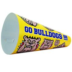This full color paper megaphone makes cheering on your favorite team and your brand easy and affordable! Made-in-the-USA, Price includes 1 location full color imprint, Setup charge: FREE Advertising And Promotion, Advertising Ideas, School Fundraisers, School Items, School Logo, School Spirit, School Supplies, Fundraising, Digital