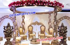 #Wooden #Carved #Wedding #Mandap #Dstexports