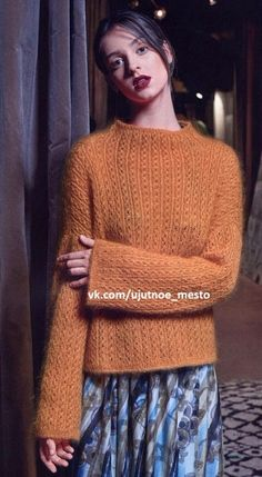 УЮТНОЕ МЕСТО ●Вязание● Cable Knitting, Hand Knitting, Knitting Designs, Knitting Patterns, Knitwear Fashion, Couture, Knit Crochet, Outfits, Clothes