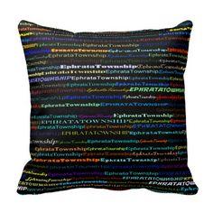 Ephrata Township Text Design I Throw Pillow