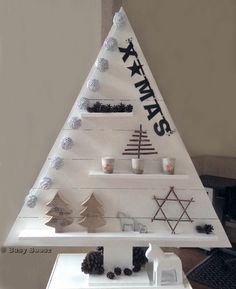 Wooden christmas tree - houten kerstboom #christmastree #xmastree #woodentree