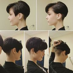 Short Pixie Haircut for Women - Short Hairstyle Trends 2016 Very Short Haircuts, Short Hairstyles For Women, Hairstyle Short, Hairstyle Ideas, Super Short Hair, Short Hair Cuts, Hair Styles 2016, Curly Hair Styles, Pixie Lang