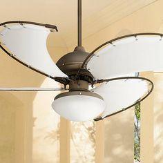 """52"""" Cool Vista Opal Glass Oil-Rubbed Bronze Ceiling Fan"""