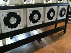 GORGEOUS Custom HOLLYWOOD REGENCY Style Black And by CydsSpaces, $1500.00