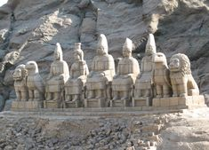 Monumental statues of the Pantheon of the Armenian Gods at Mount Nemrut. From…(stolen by Turkey during armenian genocide in Armenian History, Armenian Culture, Ancient History, Armenian Food, Ancient Mysteries, Ancient Ruins, Ancient Artifacts, Stone Lion, Fu Dog