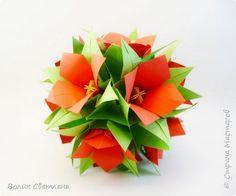 Кусудама Оригами Цветочные кусудамы Бумага фото 2