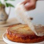 עוגת תפוחים קלבדוס הפוכה