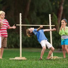 """diy_crafts-Limbo Outdoor Game Hell yes we need limbo! I can just seen Andy Pfister trying to do this. """"Limbo Outdoor Game Hell yes we need lim Picnic Activities, Picnic Games, Camping Games, Backyard For Kids, Backyard Games, Outdoor Games, Indoor Outdoor, Fun Games, Games For Kids"""