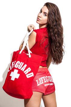 Lifeguard Beach Bag! The item to have!  #Lifeguard #beachLifeguard #welovethebeach