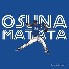 Osuna Matana t-shirt (Roberto Osuna) Toronto Blue Jays, Go Blue, Raptors, Baseball, Infographics, Sports, T Shirt, Rest, Illustrations