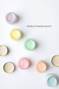 Messy Kid Project: Edible Finger Paints - Say Yes Projects For Kids, Diy For Kids, Crafts For Kids, Diy Projects, Art Activities For Kids, Toddler Activities, Toddler Toys, Edible Finger Paints, Baby Sensory