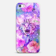 #Girly #Kitten #Cat Romantic #Floral #Pink Nebula Space   #Love! Personalize your #iPhone and#Samsung Galaxy device case using Instagram, Facebook and personal photos on #Casetagram .