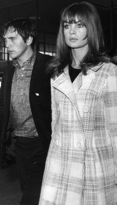 Jean Shrimpton & Terence Stamp 1960s | i want my hair cut like jean shrimpton's