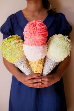 Ice Cream Cone Pinatas   Oh Happy Day!