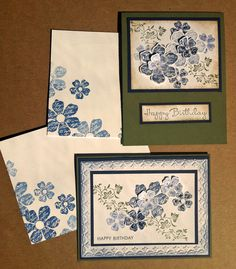 Birthday Cards (Stampin' Up stamp set: Vintage Vogue)