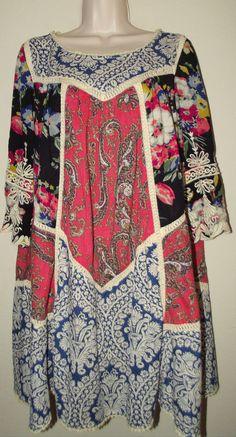 Anthropologie Inez Swing Dress Size 12 Vanessa Virginia #VanessaVirginia