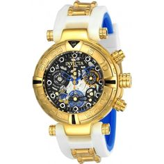 Invicta Disney Limited Edition Chronograph Ladies Watch ($328) ❤ liked on Polyvore featuring jewelry, watches, invicta, chronos watch, dial watches, stainless steel chronograph watch and crown jewelry