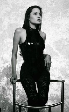 Vintage foto's van Angelina Jolie