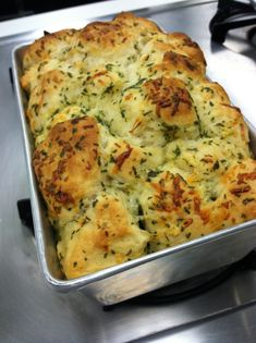 "Try this ""Garlic Pull Apart Bread"" that  is easy and delicious!"