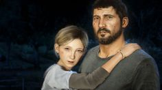 Joel and Sarah The Last Of Us remastered PS4