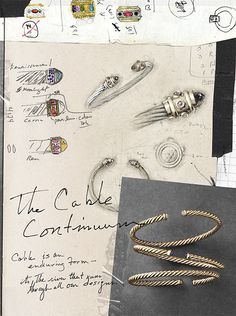 How designers start - gorgeous concept sketches and the final bracelet designs from David Yurman