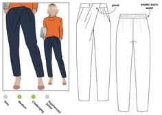 Ebony Woven Pant Sewing Pattern By Style Arc
