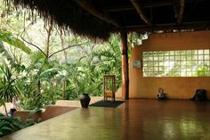 Favorite space to do yoga in the world!  Nosara Yoga Institute