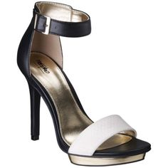 Women's Mossimo® Vinta Ankle Strap Heels - Black/White