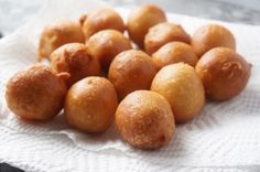 Nigerian Puff Puff Recipe  --1 + ¼ cups flour (157 grams) --1 teaspoon quick rise yeast --¼ - ½ cup sugar (50 - 100 grams) --½ tsp nutmeg --1 cup lukewarm water --Frying oil