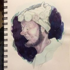 If Daumier and Edwin Dickinson had a baby! #wabisabi #pencildrawing #Sketch #watercolor #illustrationartists
