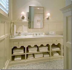 Panel detail, bathroom